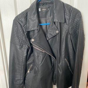 Faux leather jacket size 38 (M)
